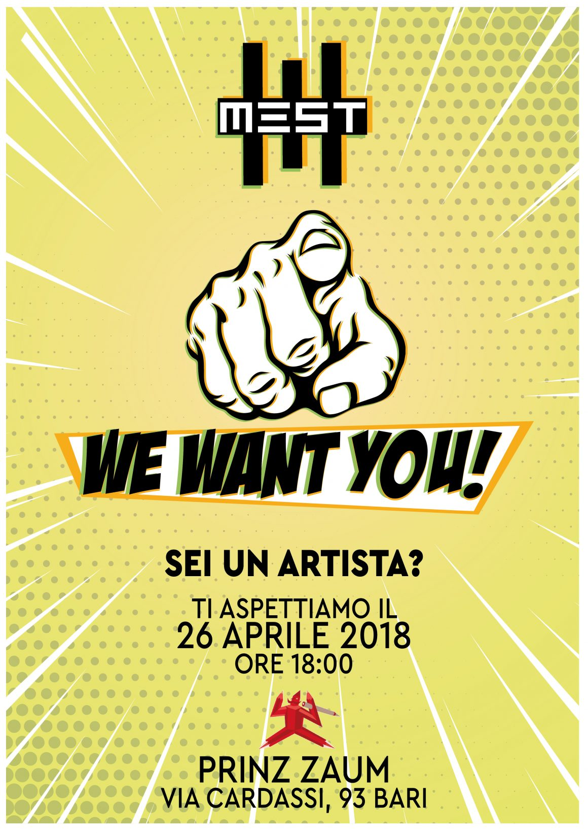 We Want You – Sei un artista? Ti stiamo cercando!